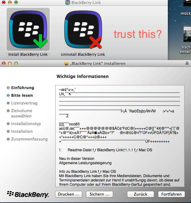 trust blackberry software