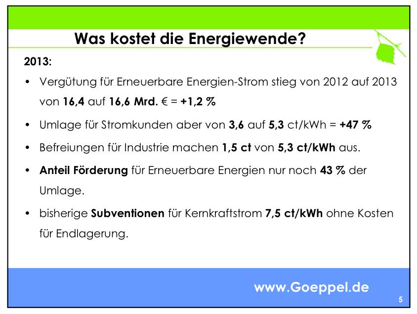 was kostet die energiewende