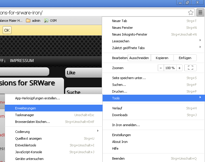 how to add adblock plus to sware iron step1
