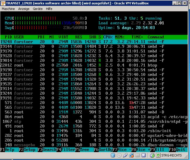 VirtualBox Linux Machine not enough CPU