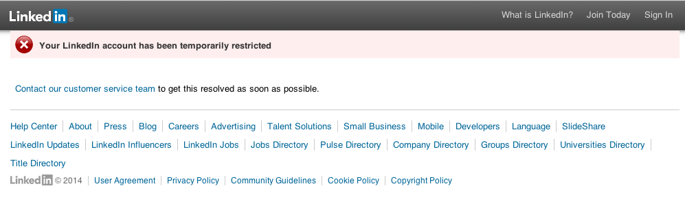 linkedin.com censorship