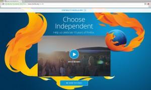 mozilla homepage