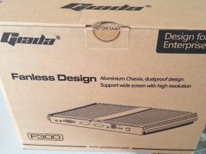 giada f 300 cardboard box