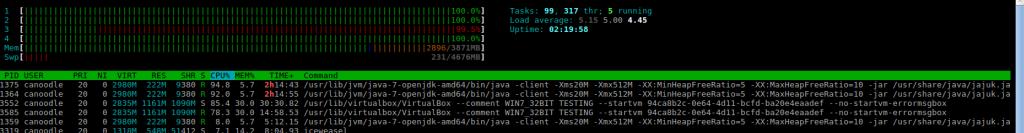 jajuk cpu usage massive