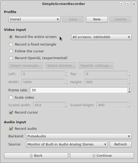 Linux -> Screencast – ScreenRecording – Record your Linux