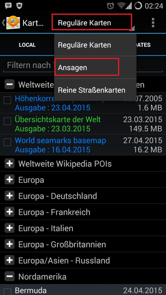 Open Street Map OSM - Sprachansage Installieren - install speech package