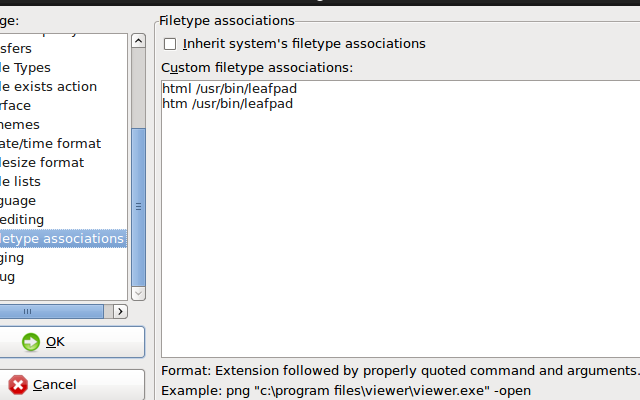 filezilla linux edit files editor settings online instant right click context menu 2