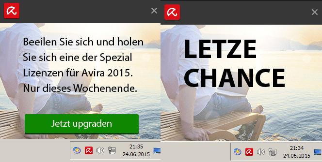 Avira Antivir Werbung wird immer unverschämter