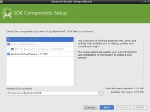 android studio components