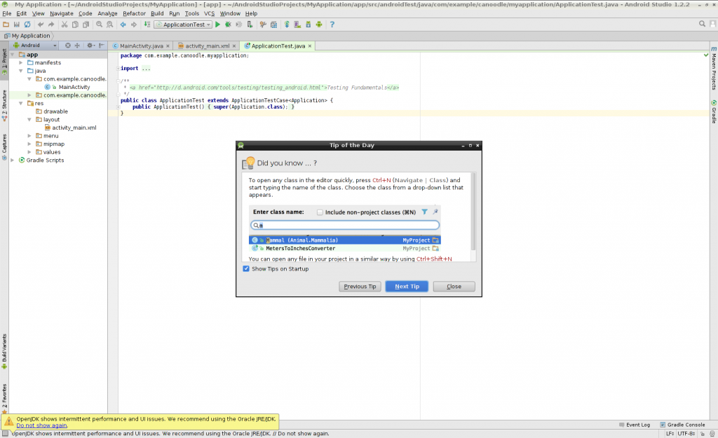 android studio screenshot1