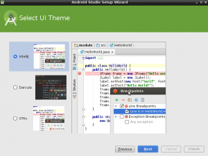 android studio theme selection