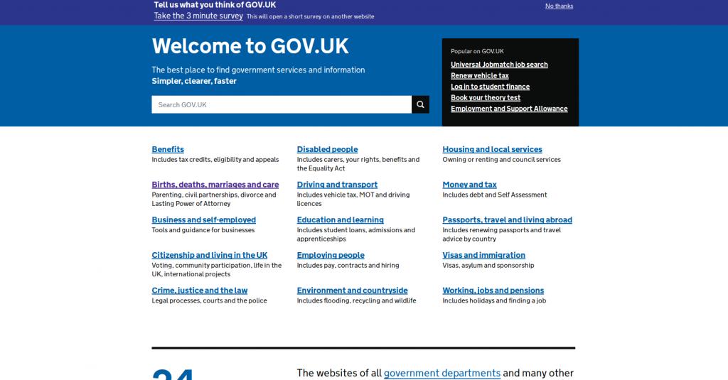 barrier free example gov.uk