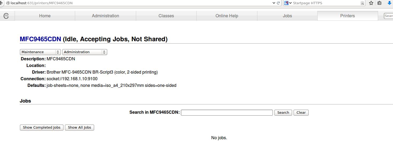 Linux -> Setup Brother MFC 9465 CDN to print in Color | dwaves org