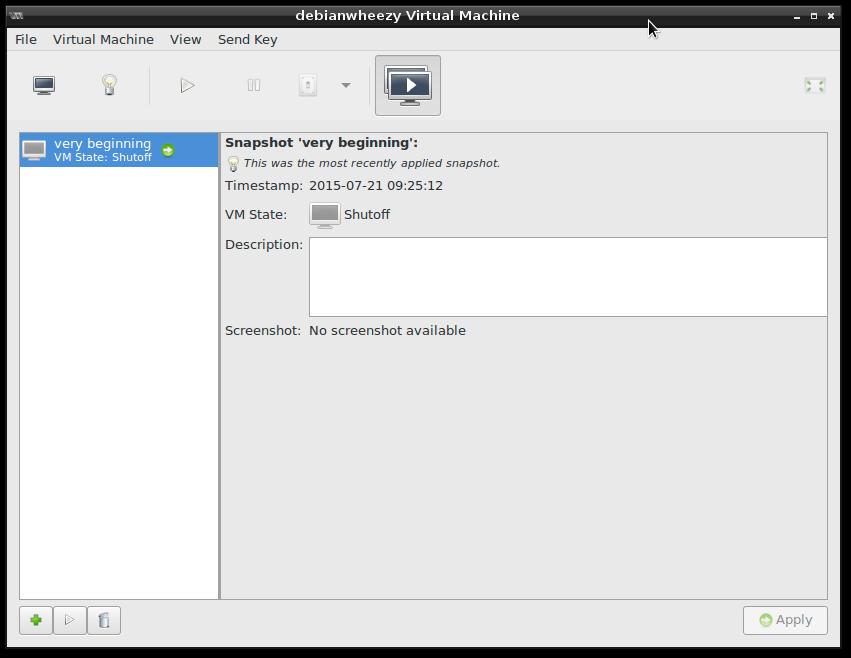 virt-manager take snapshot of vm3