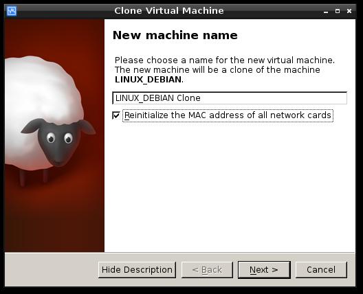 virtualbox clone machine1
