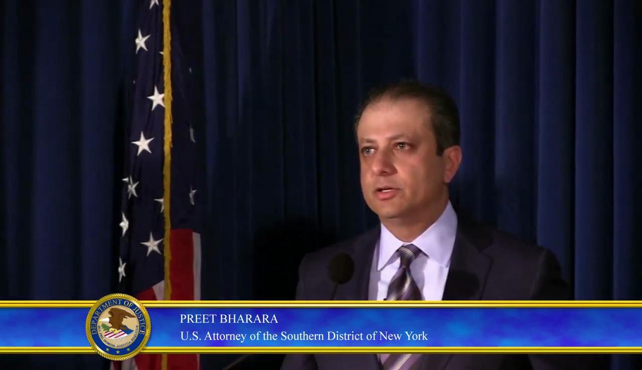 Preet Bharar US Attorney of Southern District of New York - JPMorgan Hack Stock Price manipulation2