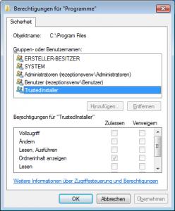 program files zugriff verweigert2