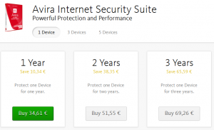 antivir security suite prices 01.2016