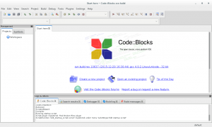 codeblocks editor linux screenshot