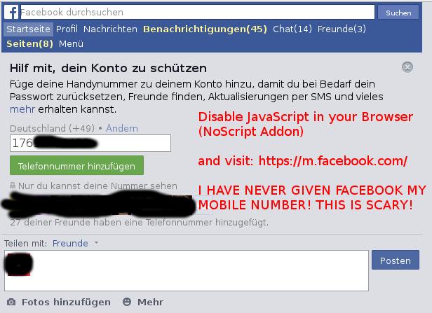 facebook got your phone number
