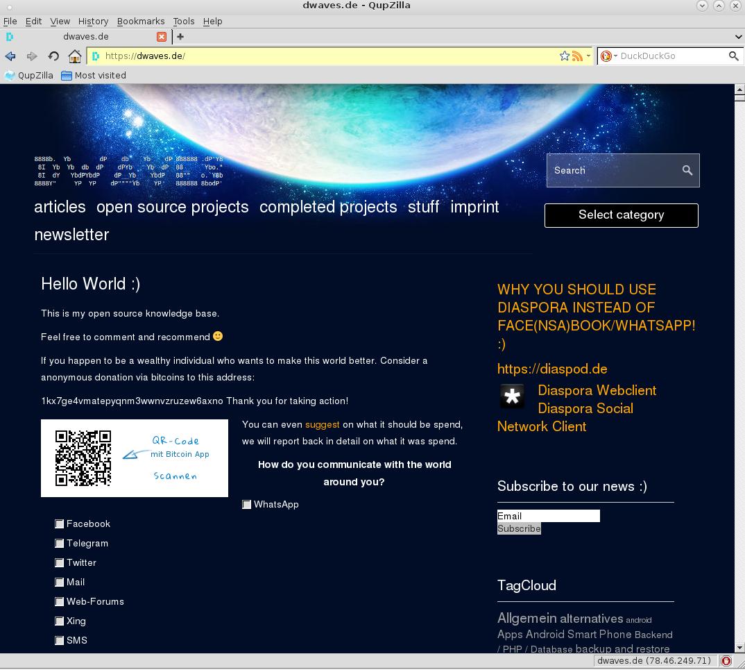Linux: Alternative Browsers – last update: 2019-07 | dwaves org