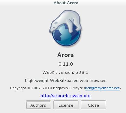 arora alternative webKit based browser (similar to firefox)_4