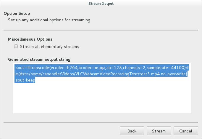 vlc record webcam linux debian8