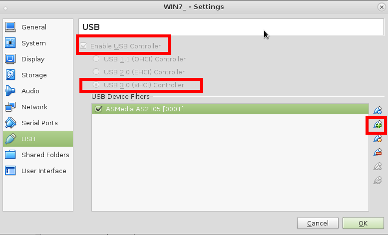 Linux Debian Host – Virtualbox 5 X -> Windows 7 Guest + USB 3 0
