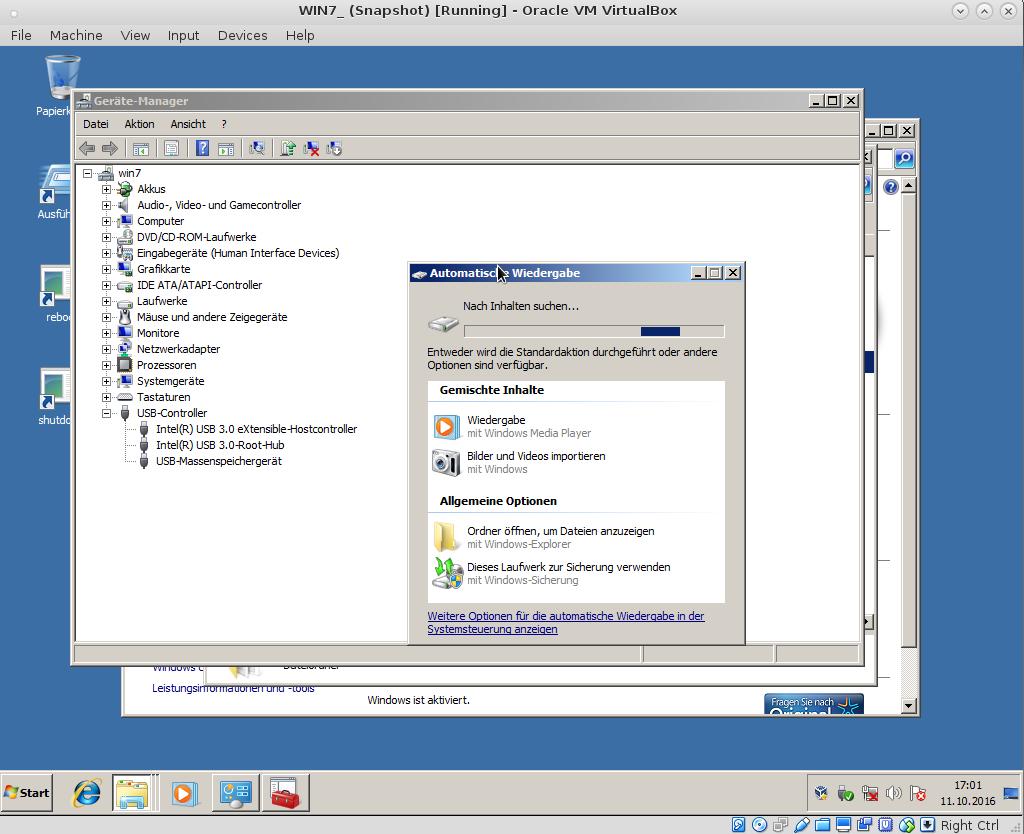 Linux Debian Host – Virtualbox 5 X -> Windows 7 Guest + USB