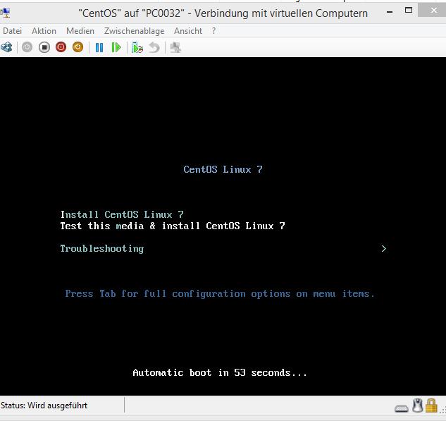 CentOS7 on Hyper-V 6 (Win8) works