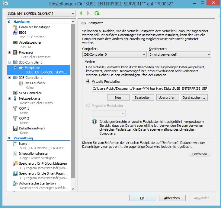 SUSE Enterprise Server 11 Virtual Guest setup fails error on Hyper-V