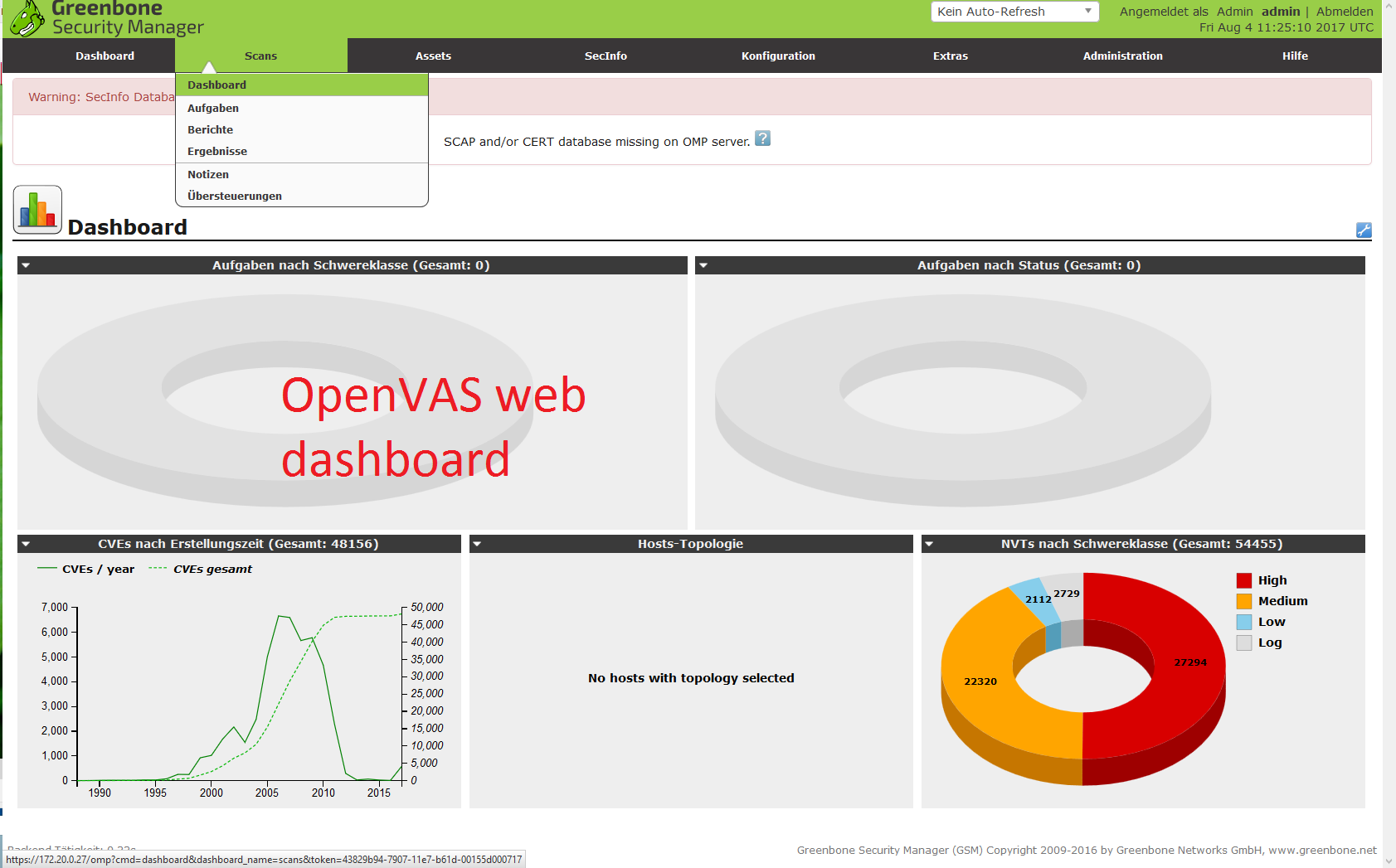 Cyber Network Security – OpenVAS – Open Vulnerability Assessment