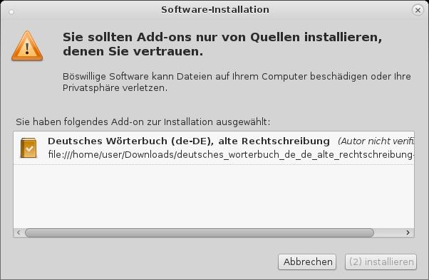 Howto Wie man in Thunderbird Neue und Alte Deutsche Rechtschreibprüfung aktiviert und Wörterbuch installiert