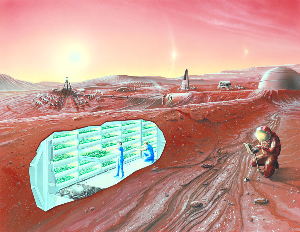 Problems with Mars missions: Radiation, Solar Flares, Meteoroids and Dust Storms