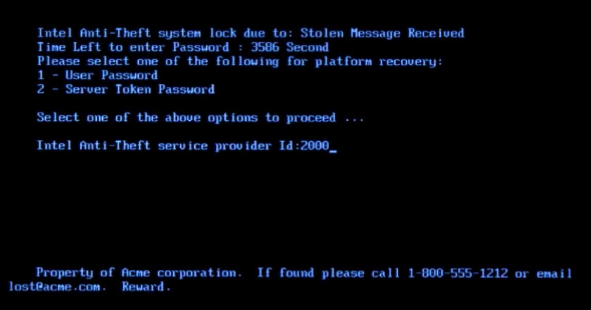 backdoors in hardware – Intel Anti Theft Brick Code