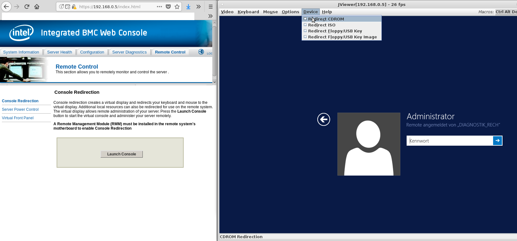 Intel BMC Java JViewer KVM Remote Control with Linux and