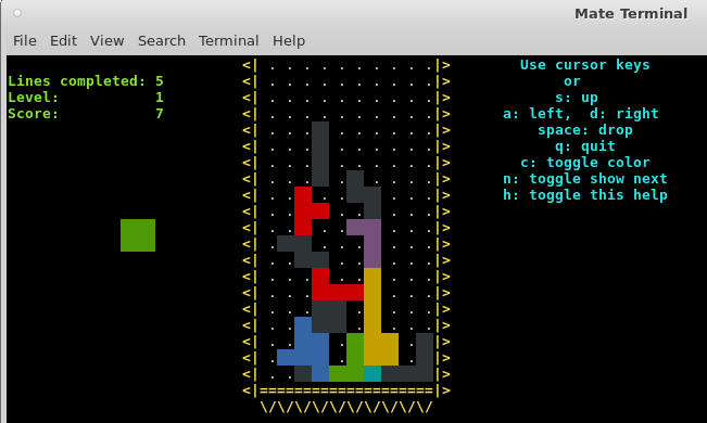 Bash Games – Good things are happening – Tetris and Snake implemented in pure Bash