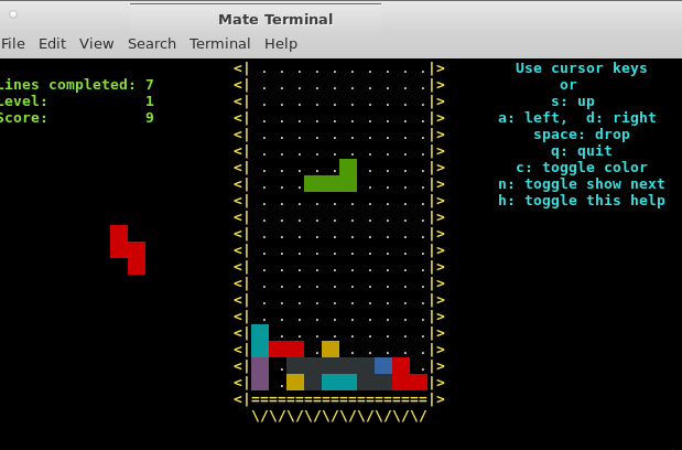 Bash Games – Good things are happening – Tetris and Snake