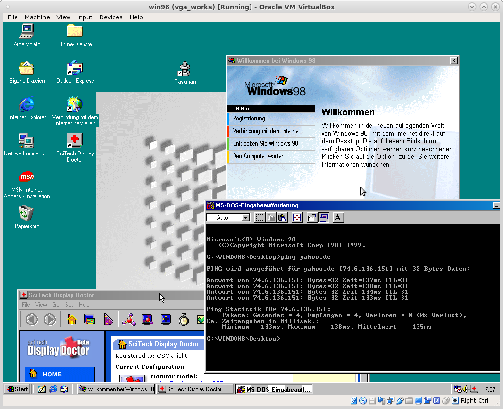 скачать образ windows 98 для virtualbox