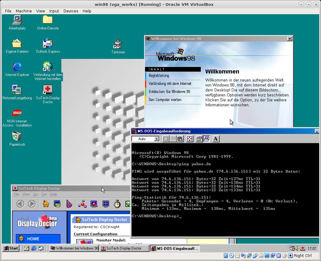 Windows 98 Virtualbox