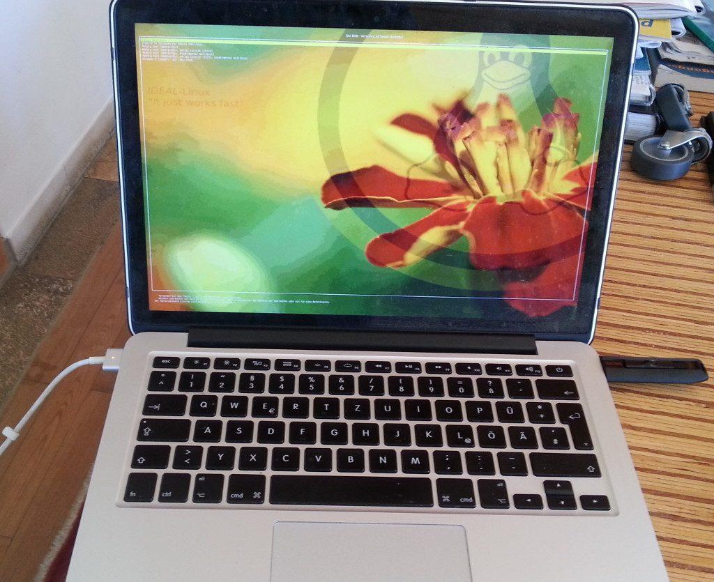 MacBook Pro 11.1 running debian