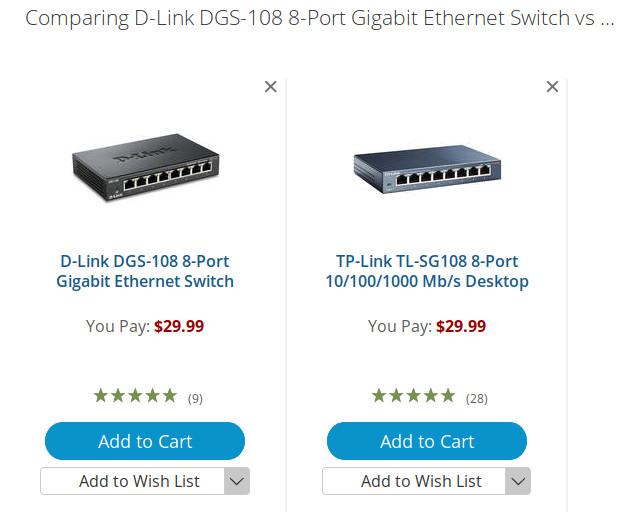 D-Link DGS 108 8x Port switch vs TP-Link TL-SG108 8x Port switch and dangerous GeoPolitical politics