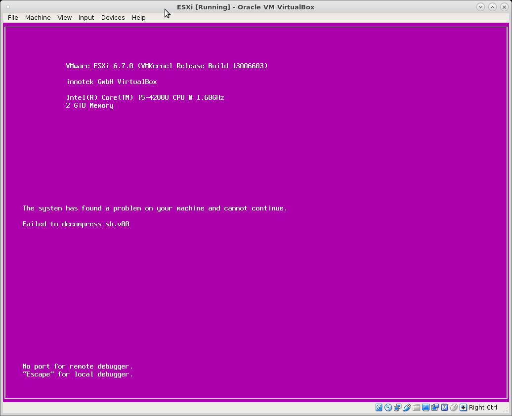 esxi can not login via ssh or web interface – keyboard