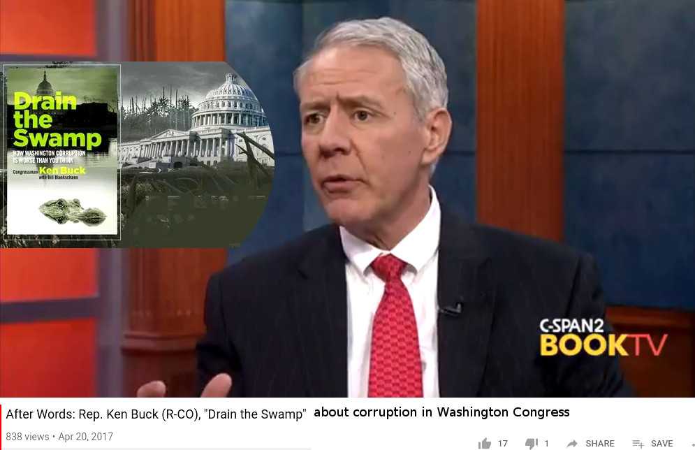 Kenneth Robert Buck (born February 16, 1959) is an American politician who is the U.S. Representative for Colorado's 4th congressional district. A Republican, he previously served as District Attorney for Weld County, Colorado. Buck also ran unsuccessfully for the United States Senate in 2010, losing to Democrat Michael Bennet. Buck was elected Chair of the Colorado Republican Party on March 30, 2019, replacing Jeff Hays.[5] https://www.youtube.com/watch?v=WTk5iyLxXk0