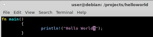 RUST howto getting started – hello world