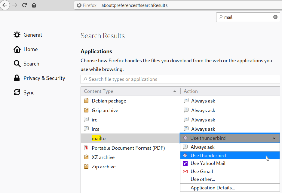 things one hates about Windows 10 – Thunderbird as default mail program for firefox mail sharing links