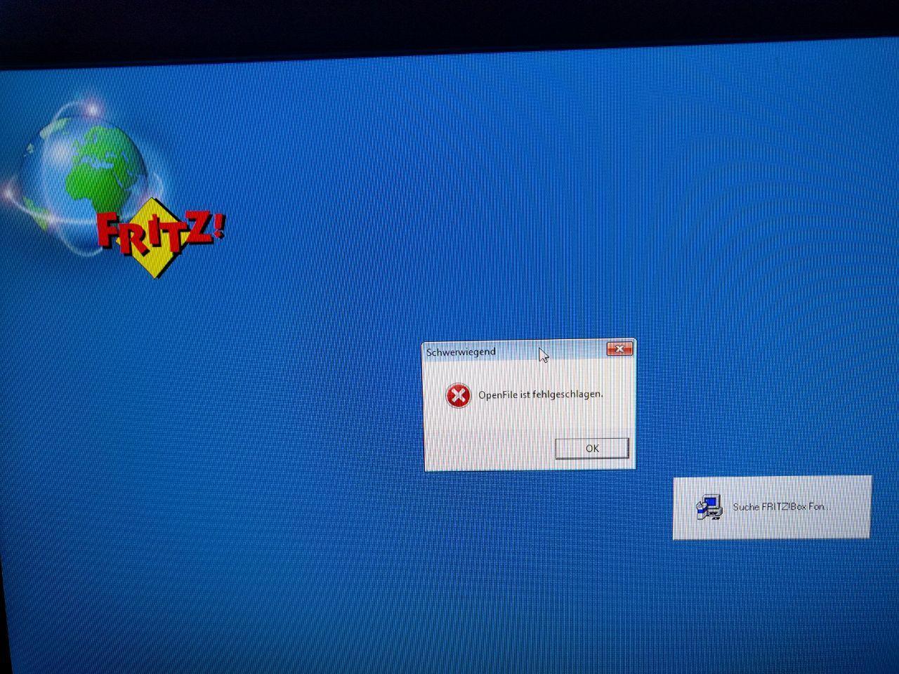 Fritz Fax lässt sich nicht installieren – OpenFile ist fehlgeschlagen – es wurde keine FRITZ!Box gefunden