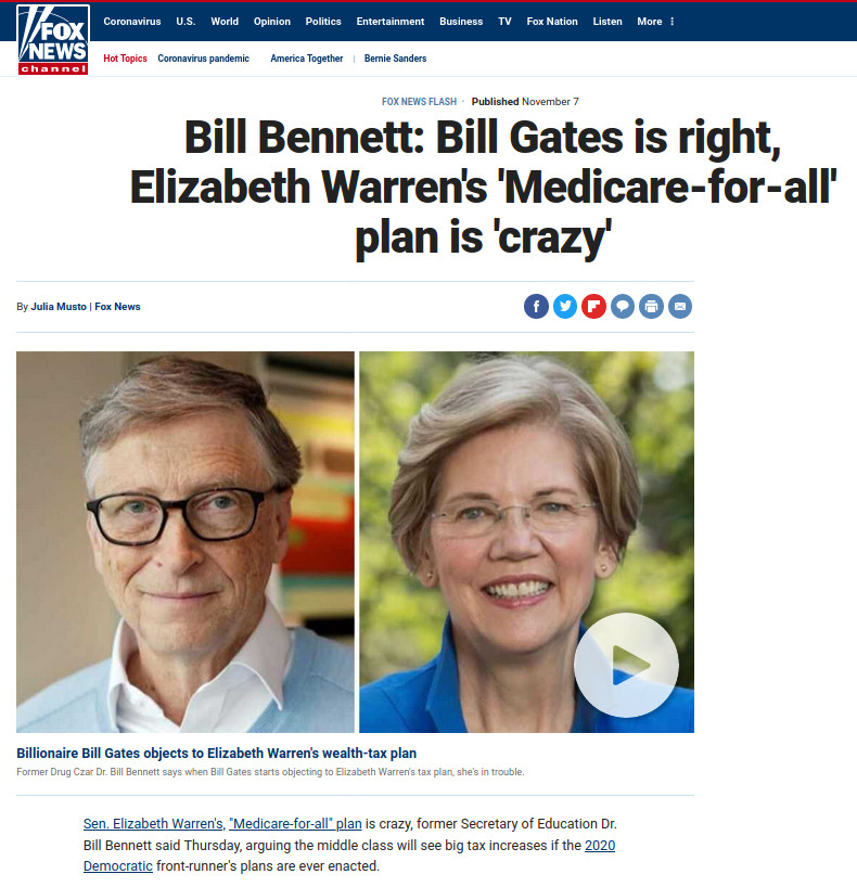 https://www.foxnews.com/media/bill-bennett-elizabeth-warren-2020-tax-medicare-for-all