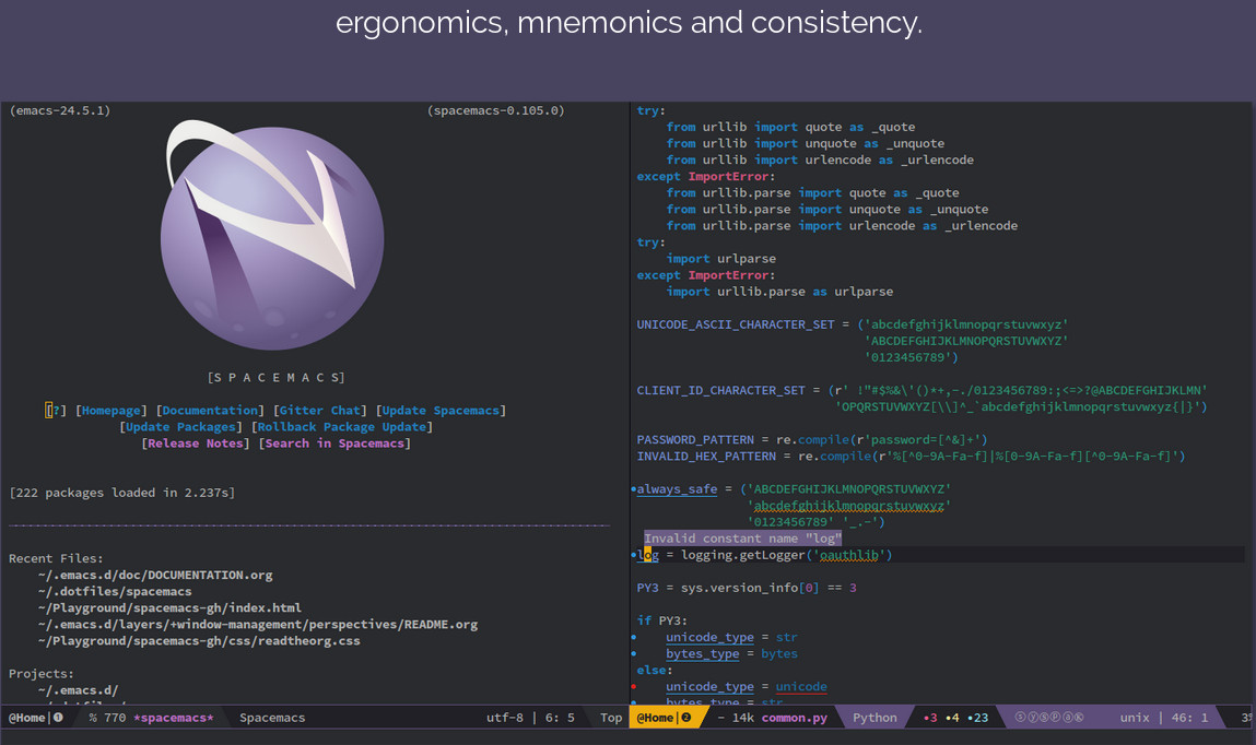https://www.spacemacs.org/