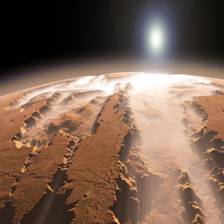 According to ESA specialists, they were able to detect a mysterious elongated cloud on the red planet. At the same time, it is monitored for more than a month. This structure appeared in mid-September. The unusual cloud was detected using the cameras of The marsexpress space probe. auto translated from: https://zen.yandex.ru/media/murkosmosa/uchenye-esa-obnarujili-na-marse-vytianutoe-oblako-foto-5bebe605ae822f00aaafbb10